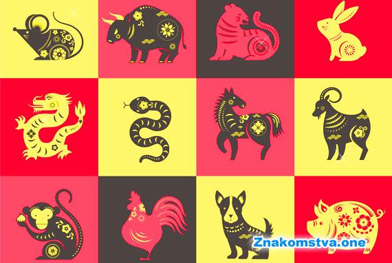 выберите Ваш знак по году рождения для поиска совместимости с другими символами годов по восточному гороскопу